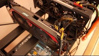 Видеокарта MSI R9 290 в майнинге очень горячая.  Не советую брать.