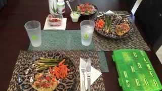 Cilantro Chicken W/asparagus, Carrots, Salad & Home-made Dressing!