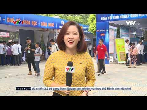 Thời sự VTV1 12h đưa tin về Ngày hội Khởi nghiệp Quốc gia 2019 của HSSV theo Đề án 1665