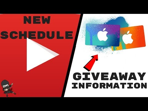 MY NEW YOUTUBE SCHEDULE!!!!   GIVEAWAY INFORMATION!   Thanks you so much for the killer support!  