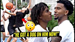 """""""YOU WANNA THROW SHOULDERS!?"""" Trash Talker Gets PISSED! 5v5 Got PHYSICAL In Miami!"""