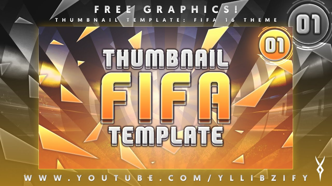 Free Graphics: Photoshop YouTube Thumbnail: Fifa 16 template #2 ...
