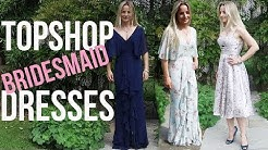 Trying TOPSHOP Bridesmaid Dresses!