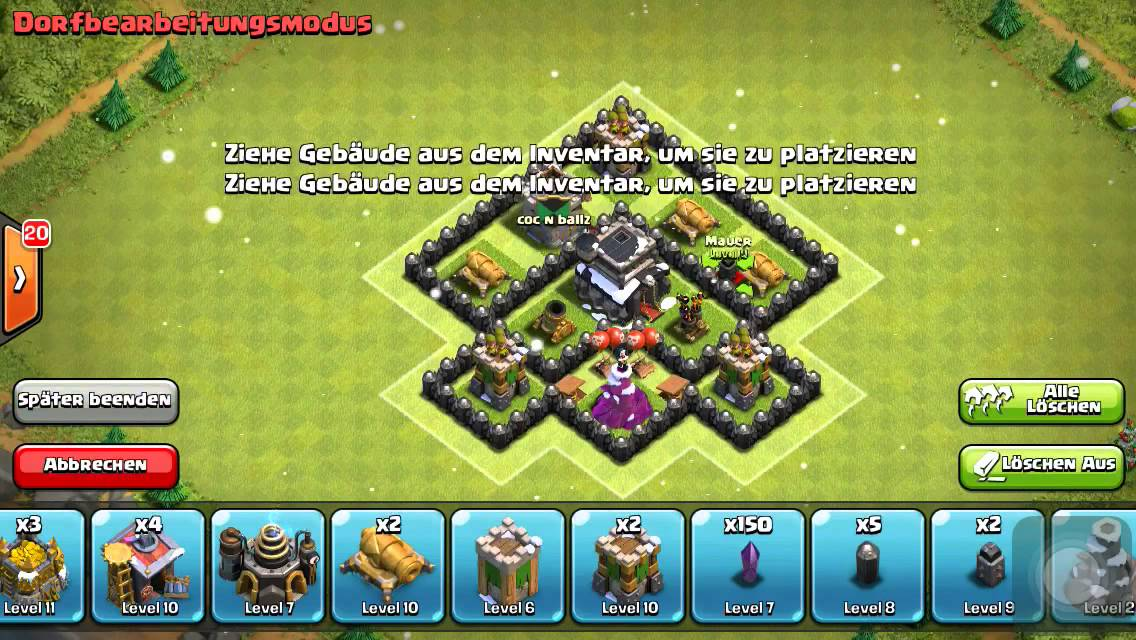 Best town hall level 5 th5 war trophy base 2015 clash of clans