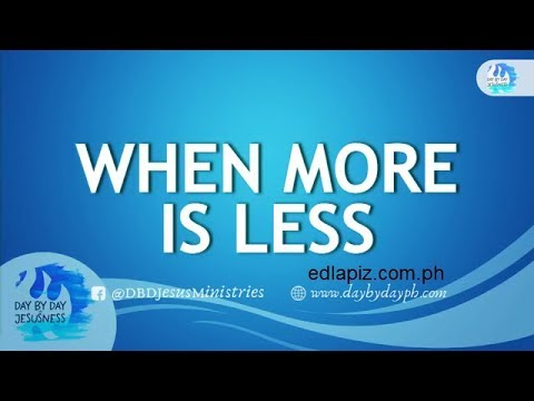 Download Ed Lapiz - WHEN MORE IS LESS