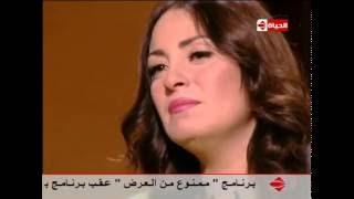 فيديو.. نيرمين الفقي تبكي على الهواء بسبب والدتها