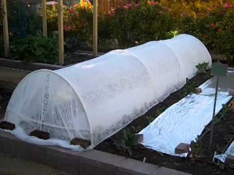 Floating Row Cover Hoop Houses For Frost Protection