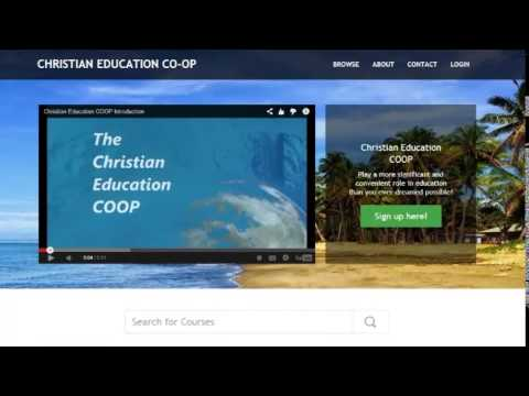 Christian Education COOP Introduction