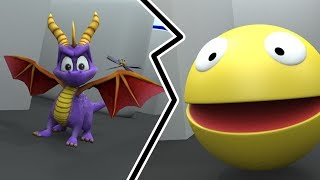 Pacman vs Spyro the dragon