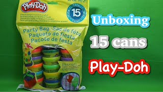 Unboxing PLAY-DOH PARTY BAG/ making multiple colors stars