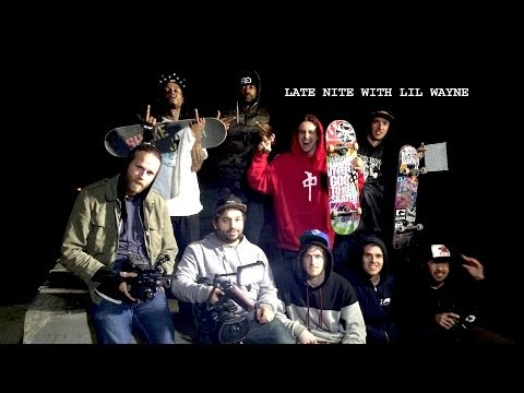 Lil Wayne Late Nite Skateboarding