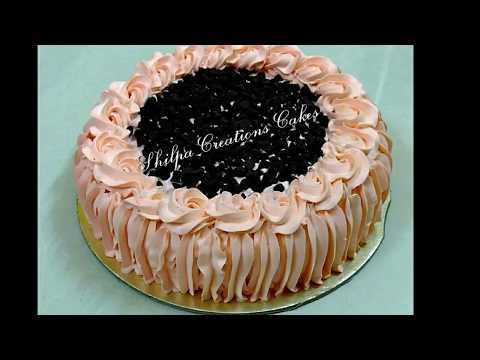 Vanilla Chocochips With Chocolate Cream Cake