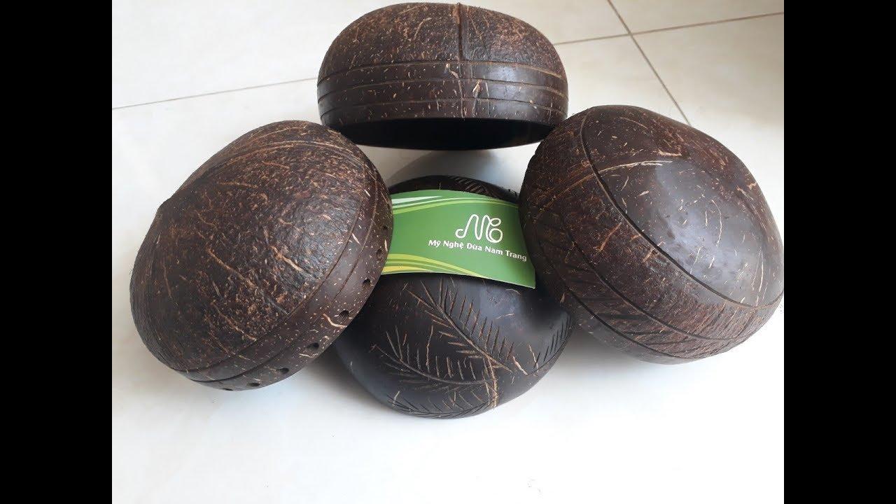 Chén Bát gáo dừa mỹ nghệ khắc hoa văn giá sỉ tốt – 0968853232
