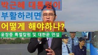 박근혜 대통령이 부활하려면 우리는 어떻게 해야 하나? 윤창중 특별칼럼 및 대한문 연설 윤창중 TV(2017.10.14)