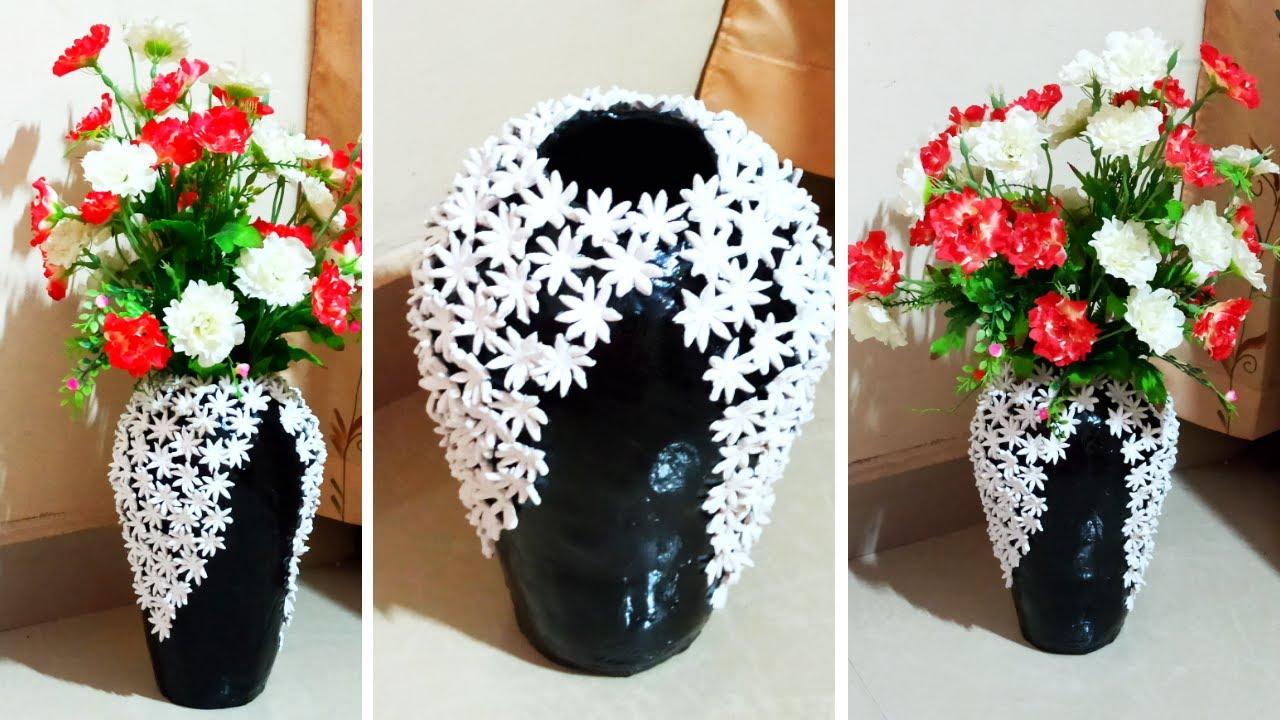 flower vase with waste plastic flower vase ideas  youtube