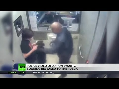 Aaron Swartz's police booking video released