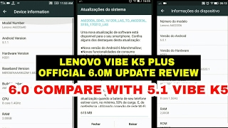 Lenovo K5 Plus Official Marshmallow Updated Review And Compare With Lollipop By Sandola