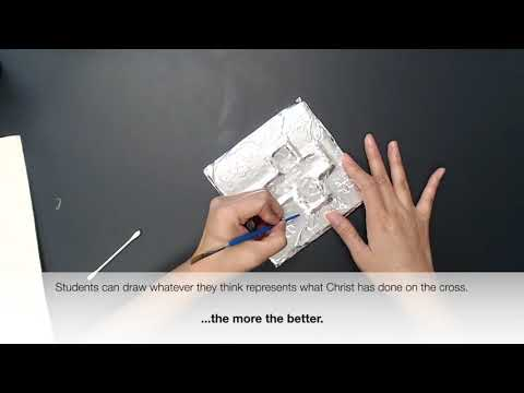 VBS 2019 Craft (Day 3): How to make a metal tile
