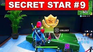 SEASON 9 WEEK 9 SECRET BATTLE STAR LOCATION GUIDE !- Find the Secret Battle Star in Loading Screen 9