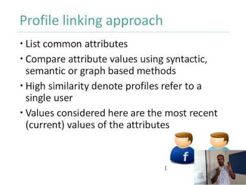 Week 8.1: Profile Linking on Online Social Media