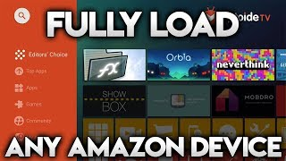 HOW TO FULLY LOAD YOUR FIRESTICK, FIRETV OR FIRETV CUBE