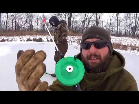 Ice Fishing With The Schooley Spring Bobber Pole
