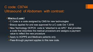 CEUS  Billing, Reimbursement and CPT Codes Ultrasound Video Lecture