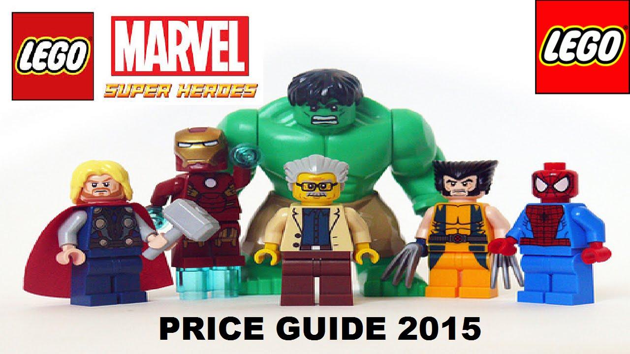 LEGO MARVEL AVENGERS & avengers assemble minifigure price guide ...