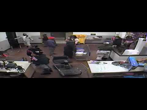 Surveillance video of Sterling Heights Walmart fight