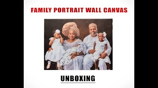 OUR FAMILY PORTRAIT WALL CANVAS UNBOXING & PRODUCT REVIEW