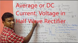 Average or DC Current, Voltage in Half Wave Rectifier