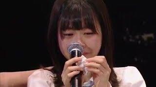 HKT48 松岡はな AKB48総選挙速報圏外のショックで号泣 生放送途中退場