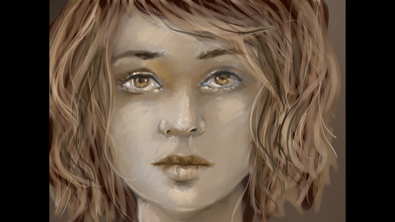 Painting process portrait without references medibang paint pro