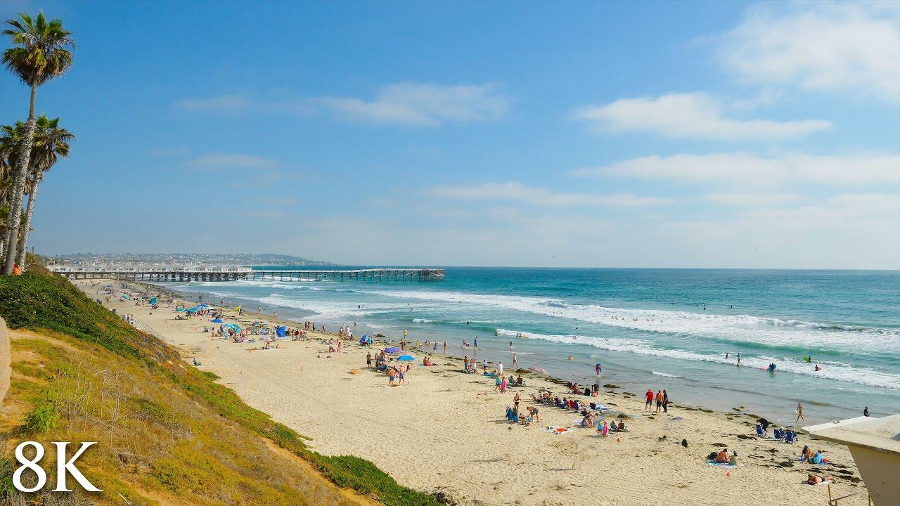 Pacific Beach Vista [8K Nature Scene] San Diego 2HR Real-Time Video - Sony Alpha1