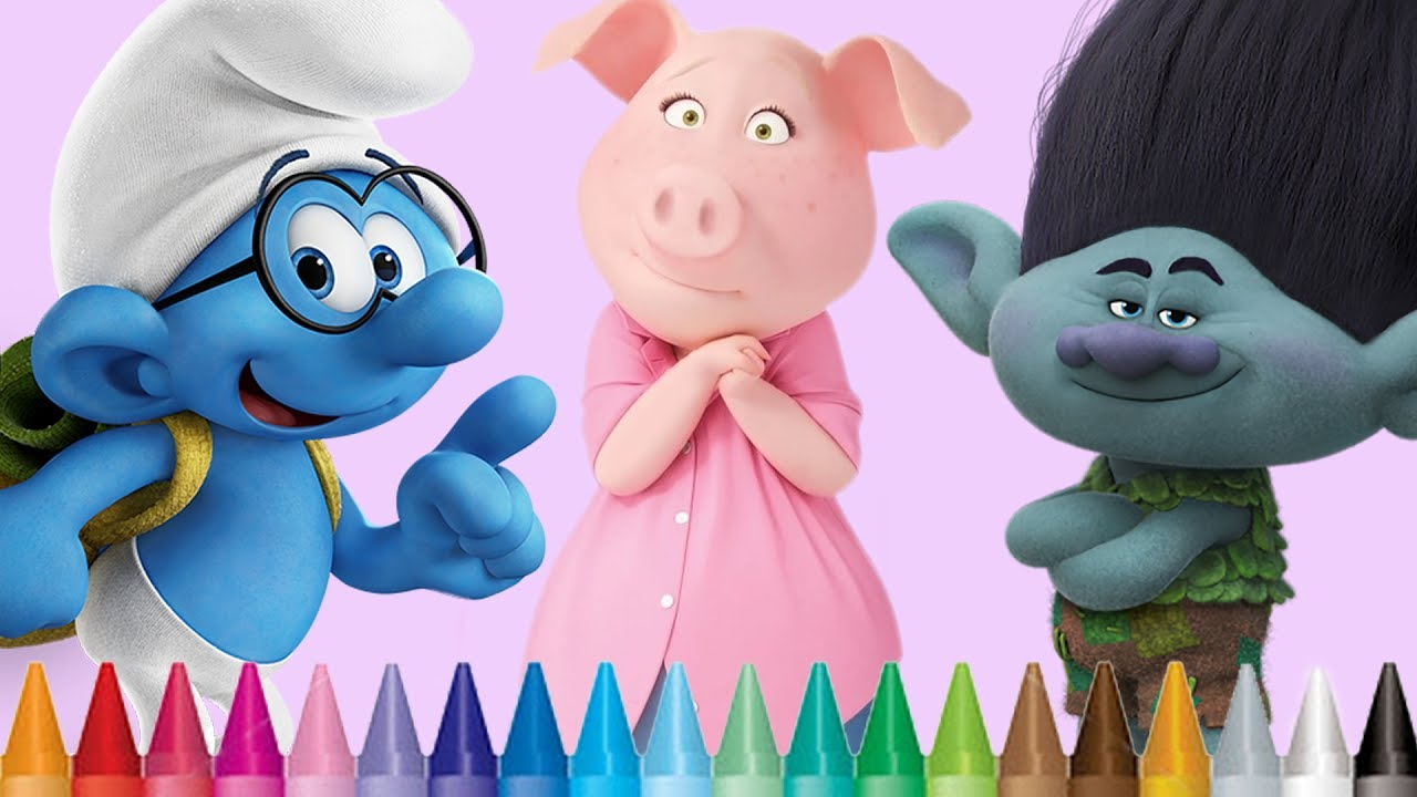 Coloring Smurfs The Lost Village