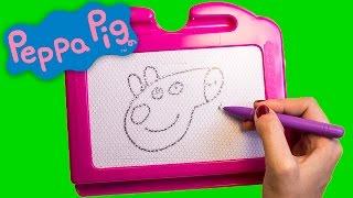 Peppa Pig Magic Chalkboard - How To Draw Peppa Pig - Pizarra Mágica - Dibujando a Peppa