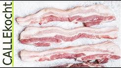 Knusprige Schusterkarbonade - Schnitzel vom Schweinebauch nach Omas Rezept. Falsches Kotelett