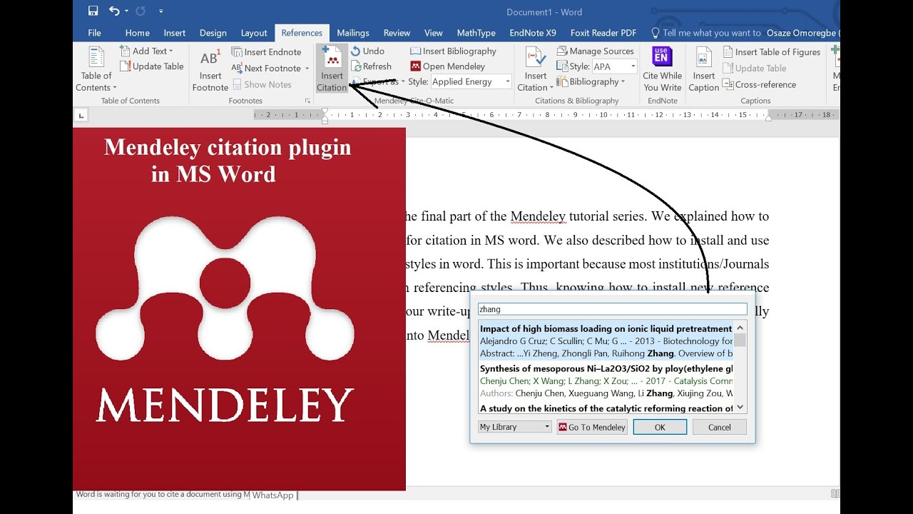 Getting Started With Mendeley How To Solve The Problem Of Mendeley Ms Word Plugin Not Showing Youtube