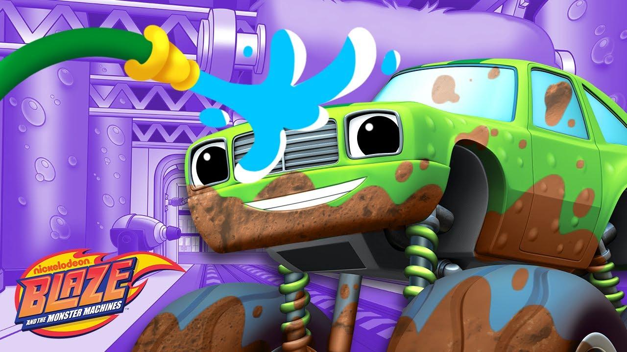 Car Wash Surprise #5 w/ the Monster Machines!   Blaze and the Monster Machines