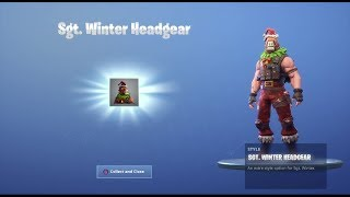 DÉVERROUILLAGE SGT. WINTER LLAMA HEAD sur Fortnite Battle Royale