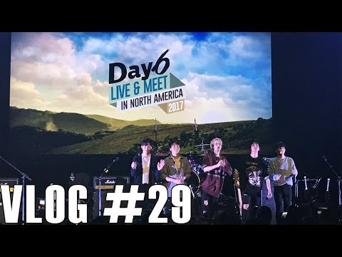 VLOG #29- Jae jumped into the crowd!!!   Vicky goes to DAY6 Live & Meet in LA 2017