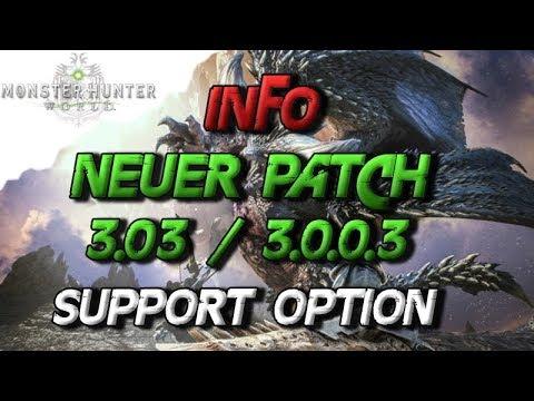 Monster Hunter World - INFO Neuer Patch, Was ist neu, Support Option - MHW