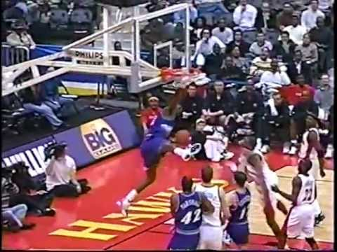 Stockton to Malone Hammer Dunk vs Atlanta - 3/5/01
