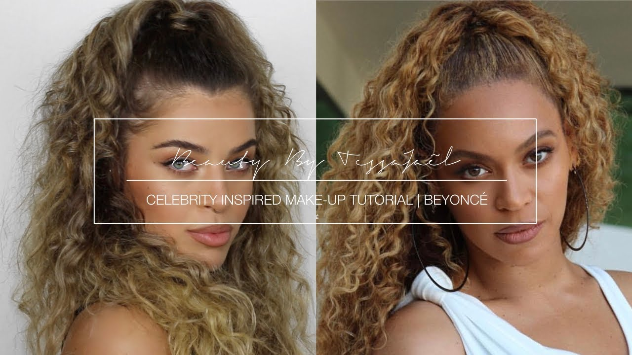celebrity inspired make- & curly