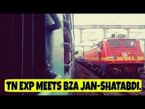 TAMILNADU EXPRESS vs VIJAYAWADA JAN SHATABDI | ED WAP-4 vs AJJ WAP-1.