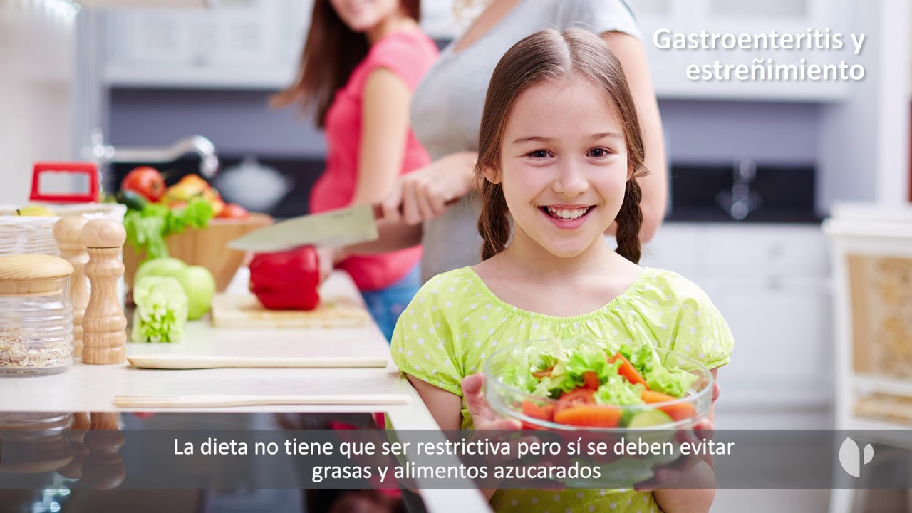 gastroenteritis niños 2 años dieta