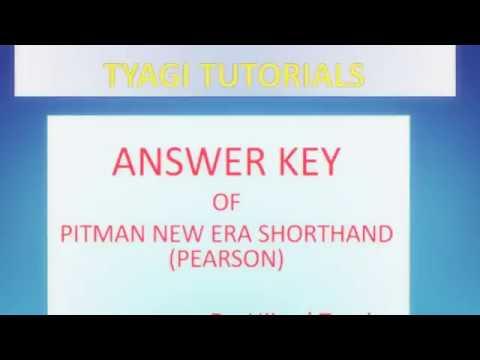 New era pitman shorthand answer key by tyagi tutorials youtube new era pitman shorthand answer key by tyagi tutorials fandeluxe Gallery