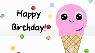 Download lagu Happy Birthday to you Bday message from a cute Ice Cream scoop MP3