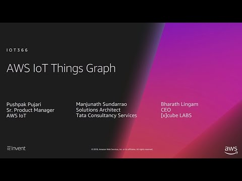 AWS re:Invent 2018: [NEW LAUNCH!] Introducing AWS IoT Things Graph (IOT366)