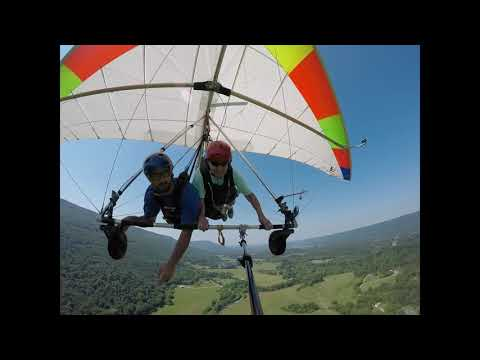 Carol's Hang Gliding Adventure Tandem Flying At Lookout Mountain